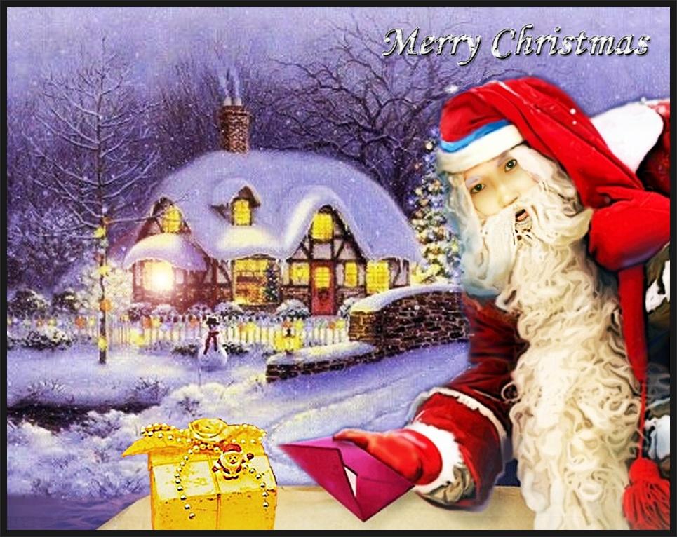 포토샵 인물합성과 배경합성 Merry Christmas