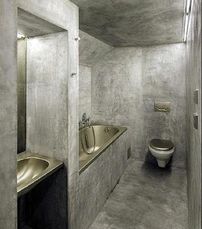 컬러 MDF와 노출 콘크리트 벽,흑운모 셀프레벨링 바닥 카페분위기 ...