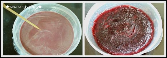 전자렌지 10분이면 만들어지는 영양간식~《복분자 양갱이》