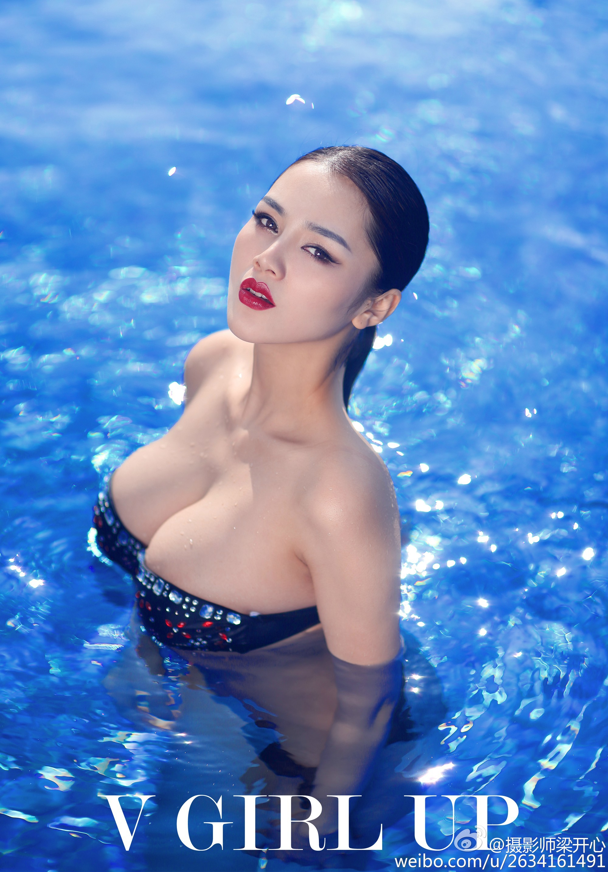 hot bikini curved Chinese glamour